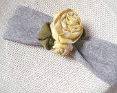 yellow rose baby/children's headband