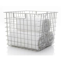 Square Wire Basket in Bath Accessories | Crate and Barrel