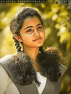 South Indian Actress Photo, Indian Actress Photos, Indian Actresses, South Actress, Beautiful Girl Photo, Beautiful Girl Indian, Beautiful Indian Actress, Anupama Parameswaran, Indian Gowns Dresses