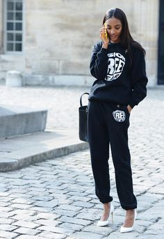 Paris Fashion Week Street Style | the Opening Ceremony number is available in-store and online at brownsfashion.com