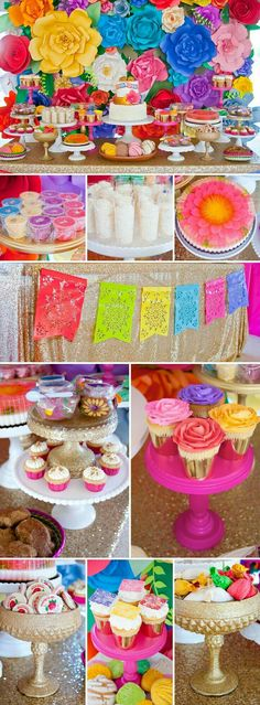 Colorful Baby Shower Inspired by Mexican Culture - omg, love this. LOVE: Colorful Baby Shower Inspired by Mexican Culture – omg, love this. LOVE: Colorful Baby Shower Inspired by Mexican Culture – omg, love this. Mexican Fiesta Party, Fiesta Theme Party, Party Themes, Party Ideas, Mexican Themed Party Decorations, Mexican Dessert Table, Mexican Candy Table, Mexican Pinata, Event Ideas