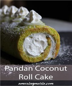 A springy, lightly sweet Easy Coconut Pandan Roll Cake Recipe using boxed cake mix. Less ingredients, less steps, same delicious flavor. Dessert Cake Recipes, Delicious Cake Recipes, Pie Dessert, Yummy Cakes, Sweet Recipes, Sweets Cake, Dessert Ideas, Yummy Food, Buko Pandan Recipe