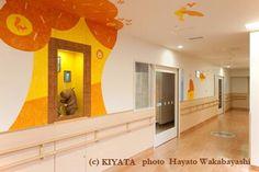 Public art at pediatrics of Teikyo University hospital in Japan!