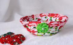 Wexford Treasures: Lovely Christmas Gift Basket ... I Handmade this cute Red Holiday Candy Dish..... by WexfordTreasures