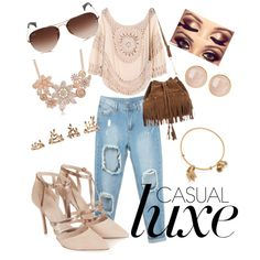 Untitled #92 by q-griffin on Polyvore featuring polyvore fashion style Topshop Saachi Alex and Ani Forever 21 Ray-Ban
