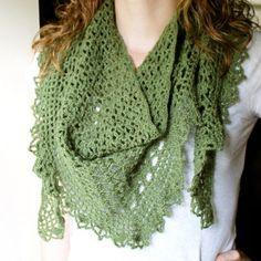green #crochet shawl by audra_hooknowl
