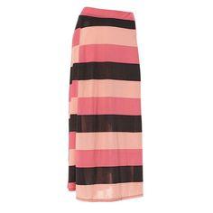 Mini Stripe Maxi Skirt Plus 255396002 | Skirts | Bottoms | Women | Burlington Coat Factory