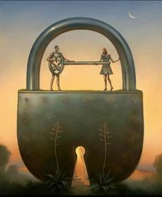 Key of love by Vladimir Kush