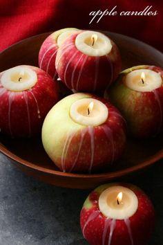Velas de manzana | Apple candles