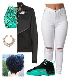 """""""Mr. Telephone Man~Erykah Badu"""" by kitty900 ❤ liked on Polyvore featuring Blue Man and NIKE"""