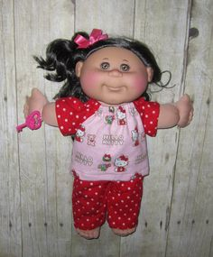 Cabbage Patch Kids  Doll Clothes  Hello Kitty by Dakocreations