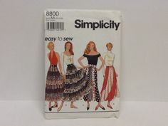 Vintage 1994 Simplicity 8800 uncut easy to sew by Glassthatrocks, $8.00