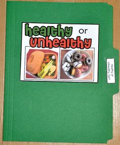 Healthy or Unhealthy Foods Sort File Folder Game (Real Photos)