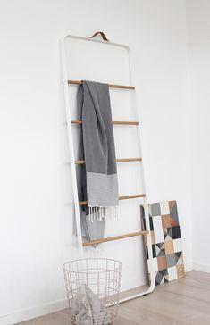 The Design Chaser: Menu at Home   Ladder + Wire Bin