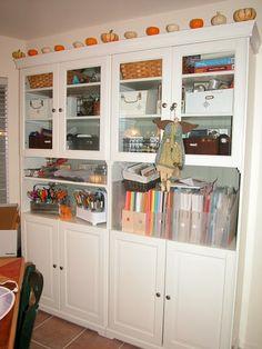 Craft Storage in the Dining Nook