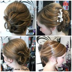Bridal updo. Soft curl. Norwich Hairdresser - Hair By Laura Hughes