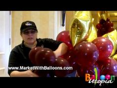 How To Make a Stairway To The Stars Balloon Column