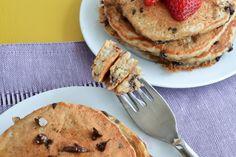 Chocolate Chip Banana Quinoa Pancakes - She Bakes Here