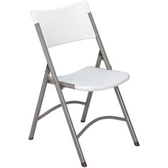 This high-quality, blow-molded plastic lightweight folding chair features a contoured seat and back for added comfort. These chairs are lightweight and easy to handle for those times when you need an extra seat around the home or office.