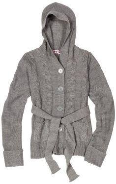 Pink Angel Girls 7-16 Hooded Cable Sweater - List price: $40.00 Price: $17.09 Saving: $22.91 (57%)  #PinkAngel