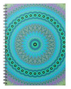 Boho flower spiral notebook