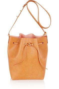 Mansur Gavriel|Leather bucket bag|NET-A-PORTER.COM // leather bucket bag is IT for the Spring! #prettyeasy