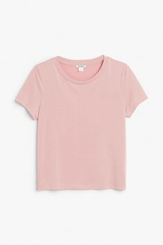 Monki Image 1 of Soft tee in Pink Yellowish Light