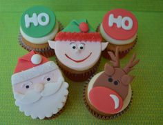 Cupcakes and Christmas Fondant Toppers - AppleMark