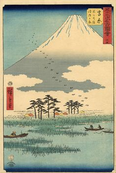 Fujiyama view, Hiroshige, 1840