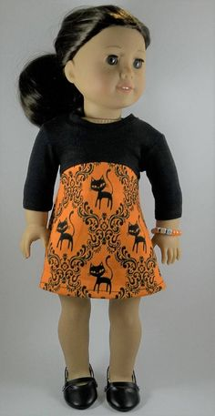 "Halloween Fall Orange Tights for 18/"" American Girl Doll Clothes Accessories"
