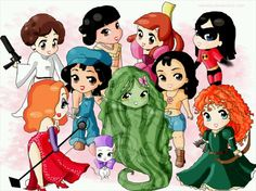 Chibi Disney ___(it sure is odd seeing Star Wars being counted as Disney..)
