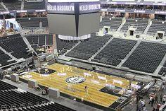 Brooklyn Nets court, All black everything looks soo good!