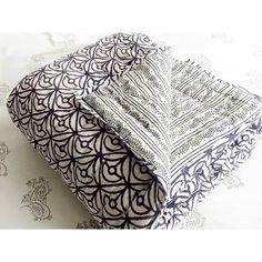 Handprinted Rajasthani Quilt in Plum