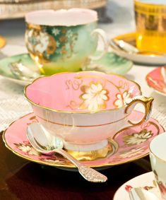 Tea cups.  I'd love to have a beautiful variety out on my table for a bridal shower or tea with my girlfriends.  Mother's Day Luncheon - Traditional Home®