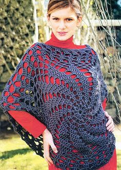 Free crochet patterns and video tutorials: How to crochet Good Ponchos - Top for Everyday Wea...