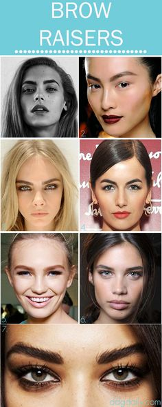 Brow Raisers: A DDG moodboard full of fancy arches #brows #eyebrows
