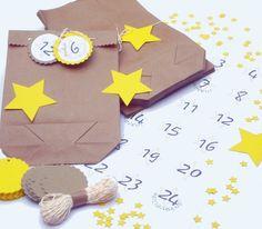 DIY Adventskalender Sterne von iLike_specials aus Berlin auf DaWanda.com
