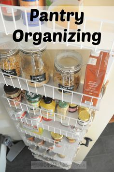 Lots of great ideas for getting your pantry organized! Check it out!