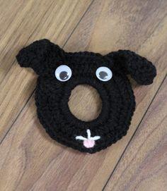 Black Dog Camera Lens Buddy by DanasCustomCrochet on Etsy,