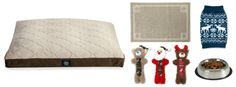 Pets love the holidays too! Here's a nice gift package for the dog in your life. Items from Big Lots: Serta Quilted Memory Foam Brown & Tan Gray Pet Bed (40.00), Arm & Hammer Pet Food Mat (10.00), AKC Select Blue Moose Pet Sweater (8.00), Pet Luv Holiday Dog Toy Gift Set (10.00), Pet Luv Food & Water Bowl (4.50) | #BigLots #pets #dog #XMas