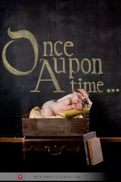 Once Upon A Time...   @Kate Hansen Would you like to do some chalkboard art for a few baby pictures?