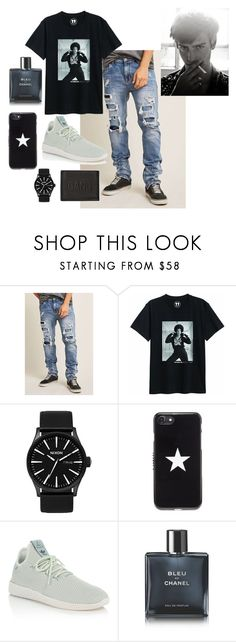 """""""Zach"""" by jalynneh ❤ liked on Polyvore featuring 21 Men, Nixon, Givenchy, adidas, Chanel, Neil Barrett, men's fashion and menswear"""