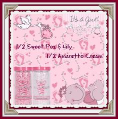Pink Zebra Sprinkle Fragrance Recipe ITS A GIRL! Celebrate the new little princess in your world Sweet Pea and Lily & Amaretto Cream. www.dillyssprinkles.com