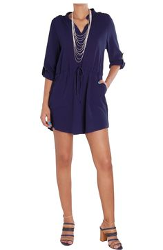 ccf16068e160 Cinched Waist Shirtdress - Lightweight Button Tab Pocket Tunic -  Humblechic.com