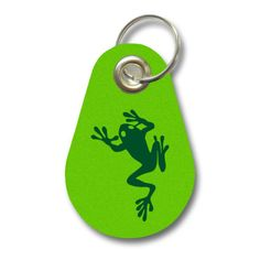 Schlüsselanhänger Kletternder Frosch. Filz Schlüsselanhänger mit einem Kletternder Frosch als Aufdruck