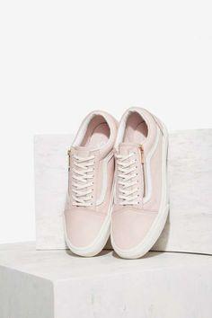 Vans Old Skool Zip Leather Sneaker - Shoes