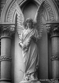 A collection of grim original content created and compiled by Mike McCuen. Cemetery Statues, Cemetery Art, 7 Archangels, Angel Artwork, Dark Art Drawings, Religious Tattoos, Angel Aesthetic, Renaissance Art, Sculpture Art