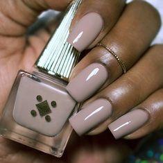 Dark Skin Nail Polish, Nail Polish Colors, Dark Skin Nail Color, Neutral Nail Polish, Taupe Nails, Dark Nails, Manicure, Gel Nails, Stylish Nails