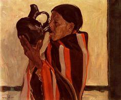 Walter Ufer,  Taos Indian Drinking