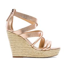 Joe's Jeans Robina Wedge Shoes ($102) ❤ liked on Polyvore featuring shoes, sandals, joe's jeans, high heel wedge shoes, synthetic shoes, platform shoes and joes jeans shoes